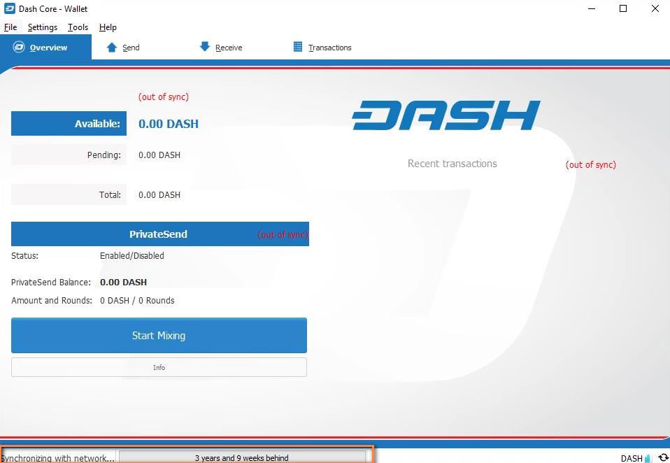 crypto wallet sync status