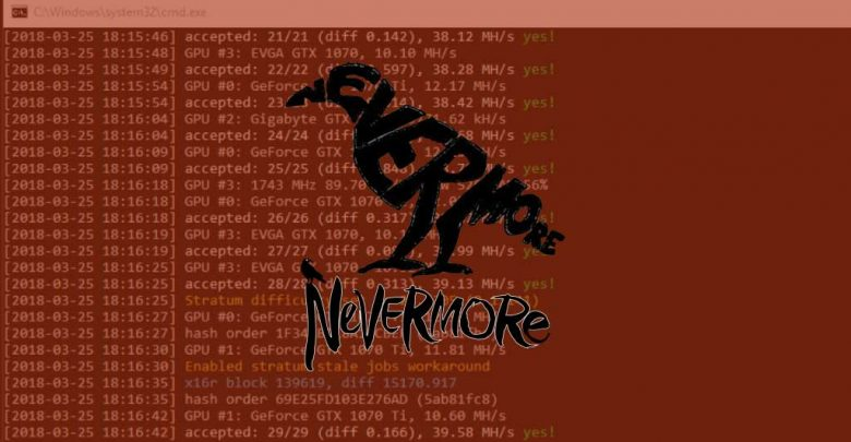 Photo of Nevermore Miner – New optimized and open source NVIDIA miner for Ravencoin