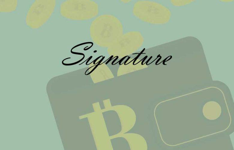 wallet signature