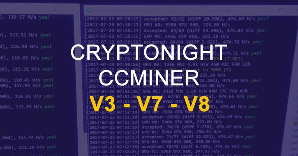 KlausT ccminer cryptonight NVIDIA v3 02 - CryptoNight V3, V7, V8