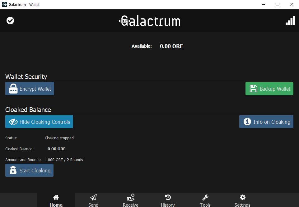 Galactrum Wallet