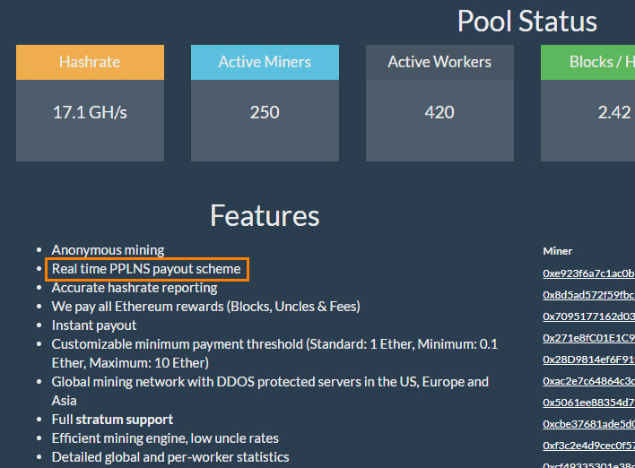 Mining Pool Payout Schemes