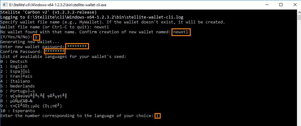 Stellite CLI wallet setup