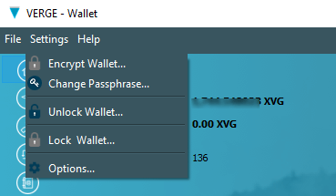 Verge wallet unlock