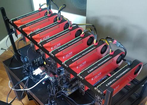 FPGA mining rig