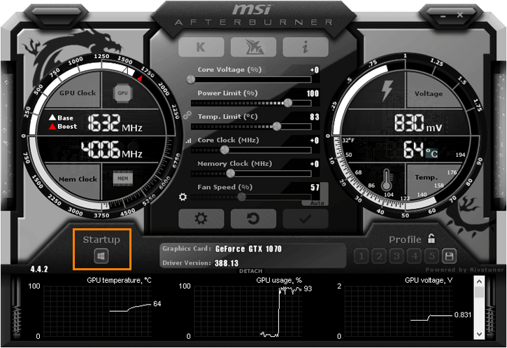 MSI Afterburner auto start