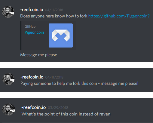 ReefCoin vs Pigeoncoin