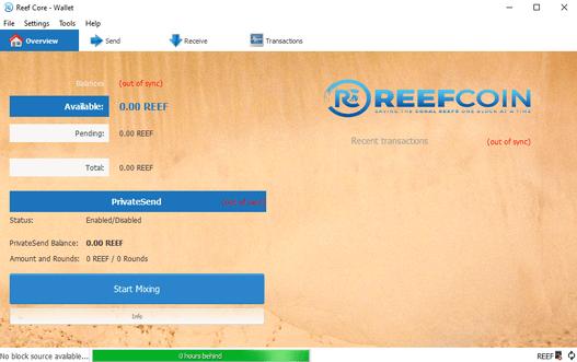 Reefcoin wallet