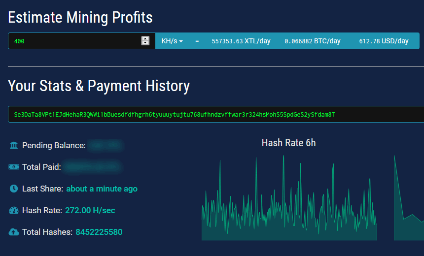 Stellite profit mining calculator