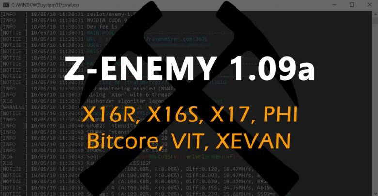 Photo of Z-Enemy 1.09a (Zealot / Enemy) miner for X16R, X16S, X17, PHI, VIT and XEVAN