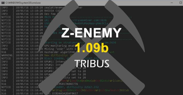 Photo of Z-Enemy v1.09b with support for Tribus algorithm – CUDA miner for Windows