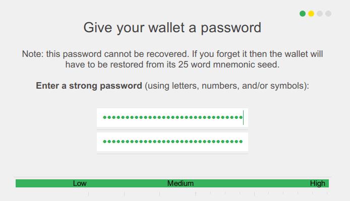 XMR wallet password