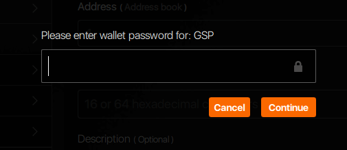Monero GUI wallet password