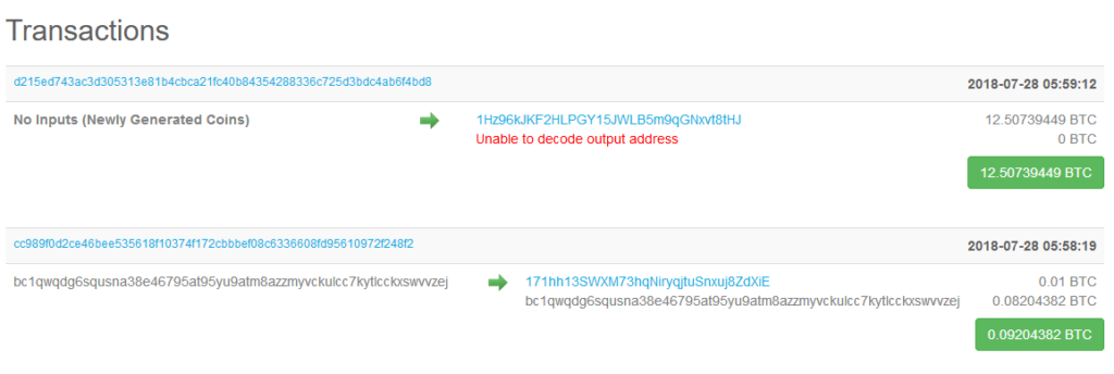 block transactions