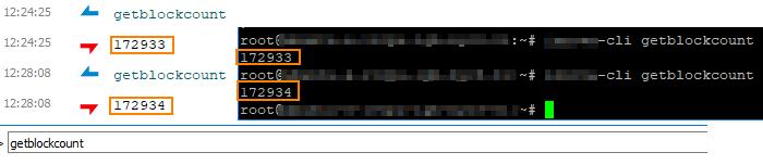 Masternode wallet sync status