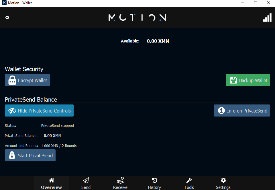 Motion wallet