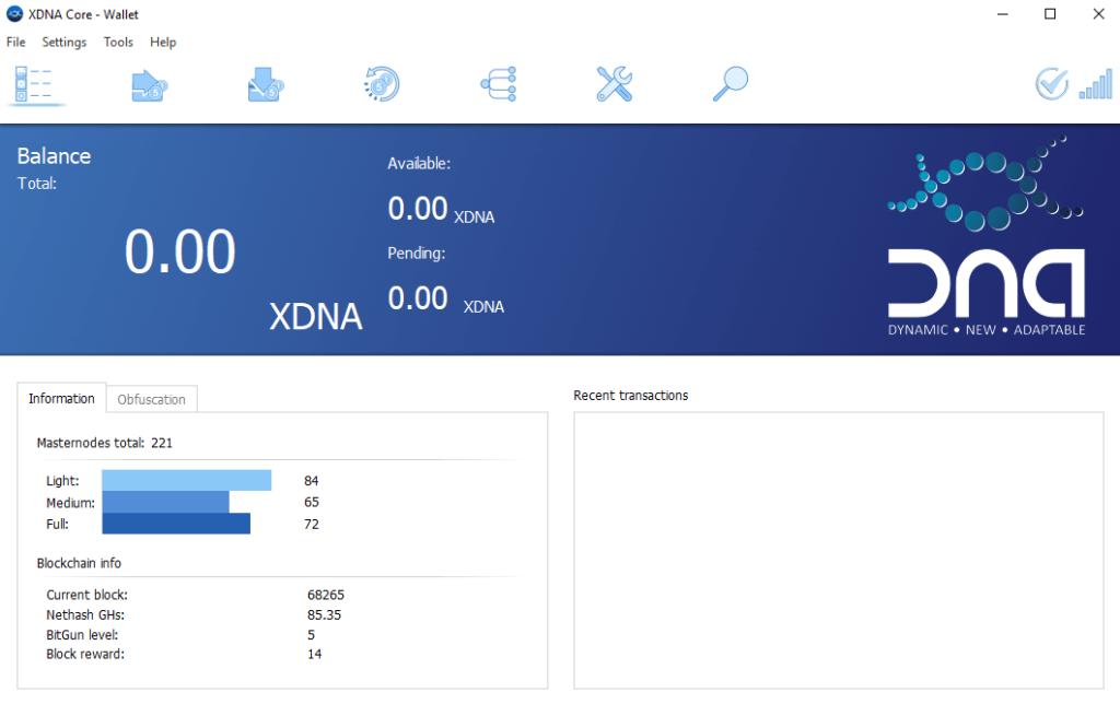 XDNA wallet