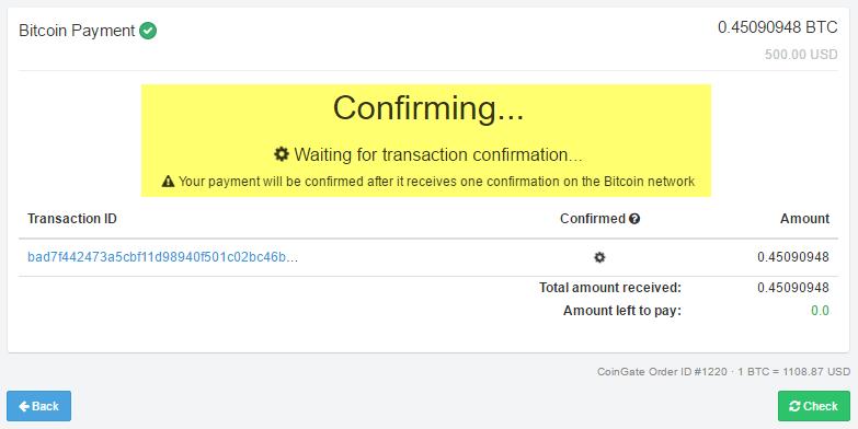confirmations bitcoins