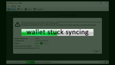 Wallet stuck syncing