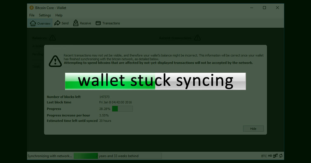 bitcoins wallet out of synchronization