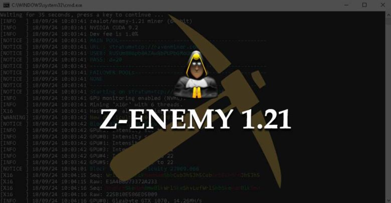 Photo of Z-Enemy 1.21 NVIDIA miner with slight optimizations (Windows / Linux)