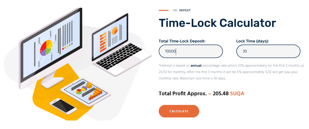 Time lock calculator 5% APR