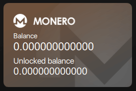 XMR locked and unlocked balance