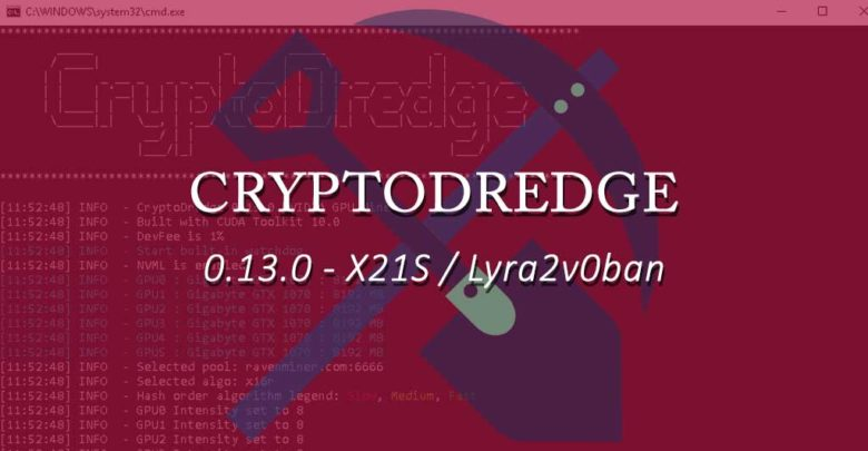 Photo of CryptoDredge 0.13.0 – X21S, Lyra2v c0ban & performance improvements
