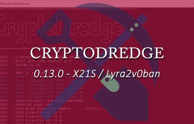 CryptoDredge 0.13.0: x21s, lyra2vc0ban