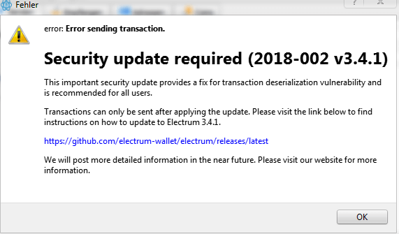 Electrum update phishing hack