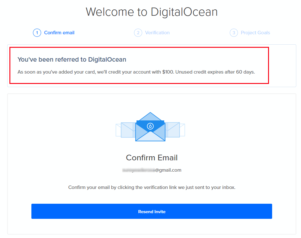 Verify Digital Ocean account
