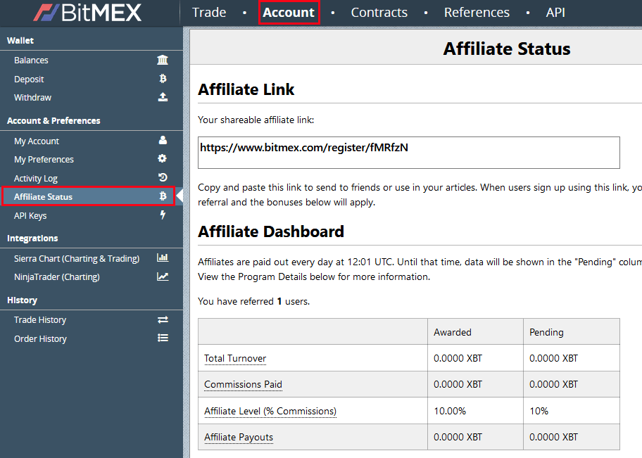 BitMEX referral code / affiliate program - 10% fee discount +