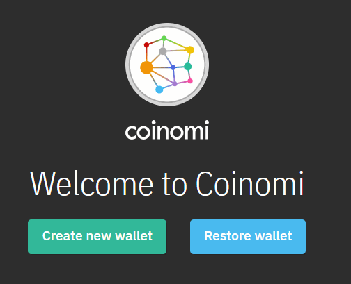 Creating Coinomi wallet