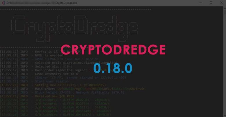 Photo of CryptoDredge 0.18.0 – New algorithm (Argon2d) and minor improvements