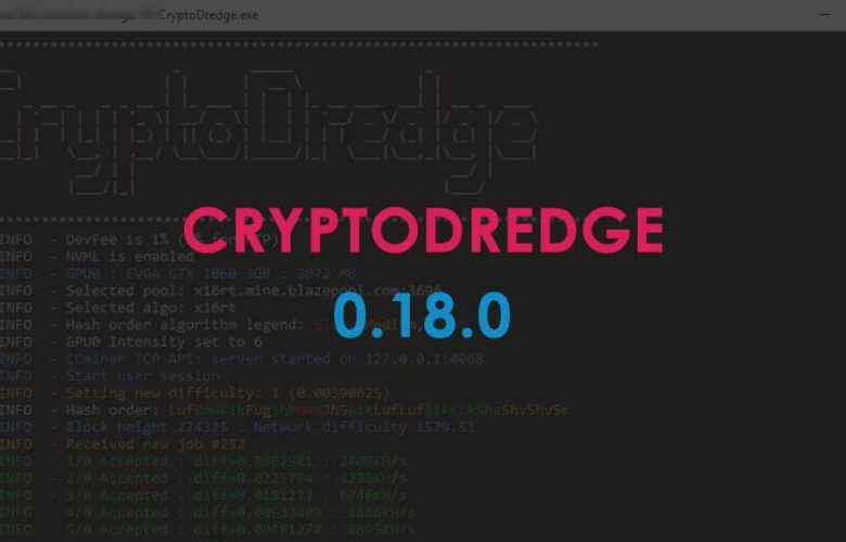 CryptoDredge version 0.18.0