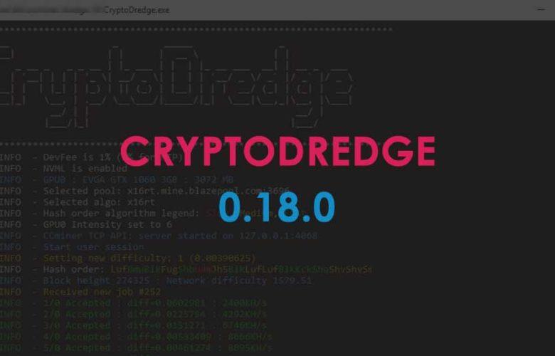 CryptoDredge version 0.18.0