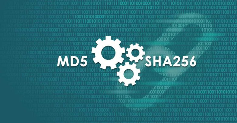 MD5 SHA256 checksum