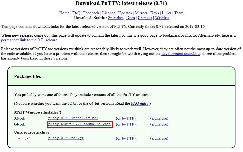 PuTTy software download