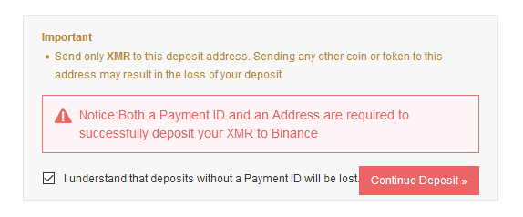 Binance payment ID