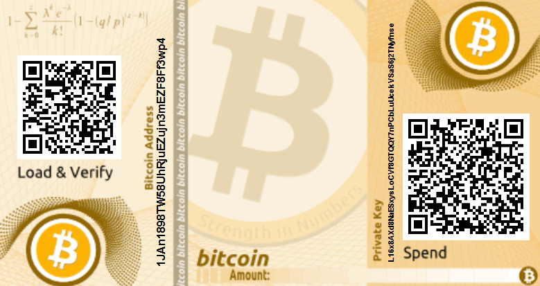 Paper BTC address