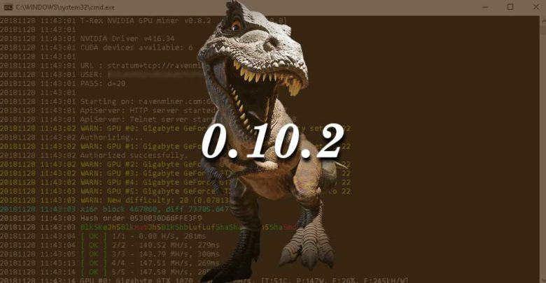 Photo of T-Rex 0.10.2 – New Algorithm: MTP and support for Tesla p100
