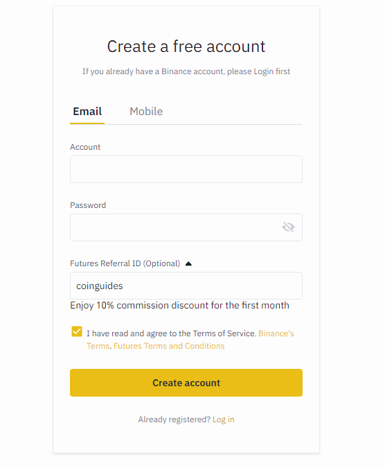 Binance futures referral code