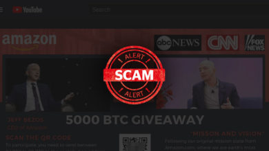 Cryptocurrency giveaway scam