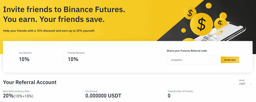 Binance futures referral account
