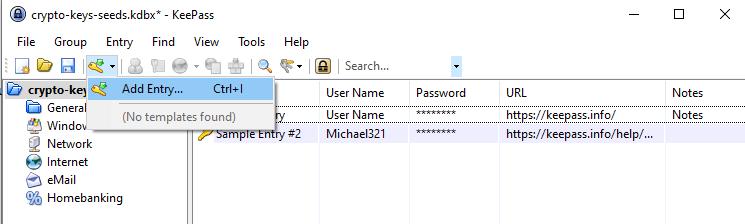adding entry