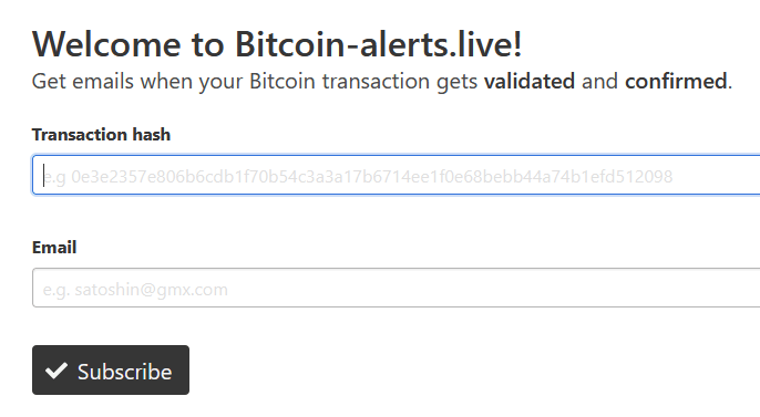 bitcoin confirmation alert