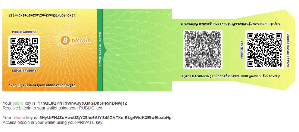 paper wallet qr code