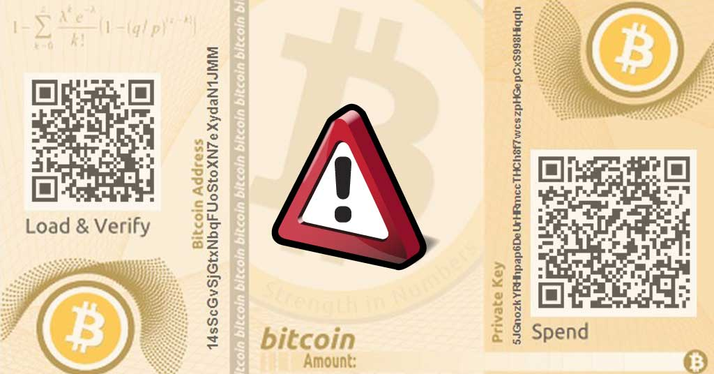 Photo of Paper wallet risks – Why you should avoid storing Bitcoin in a paper wallet?