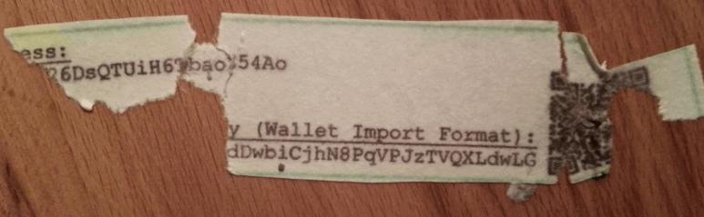 torn paper wallet