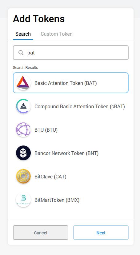 add tokens metamask